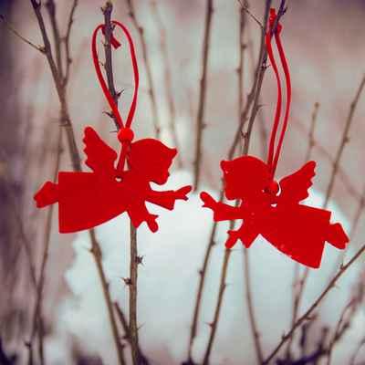 Winter red photo session decor
