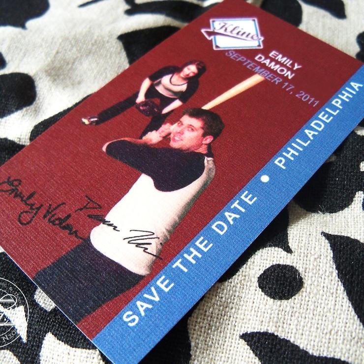 Vintage Baseball Wedding Invitation & Stationery