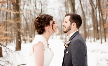 Winter wedding buttonhole