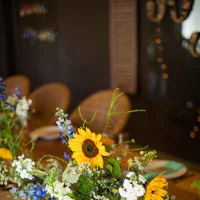 Overseas yellow wedding reception decor