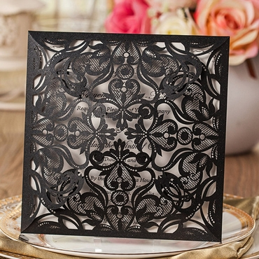 Black wedding invitations