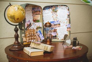 Marine brown photo session decor