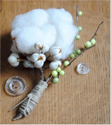 White wedding buttonhole