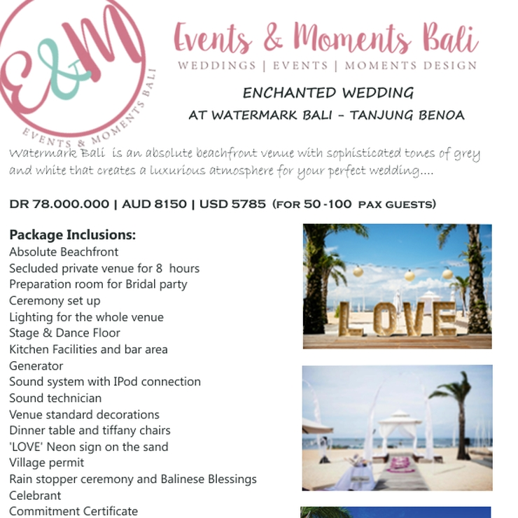 Wedding Packages 2016