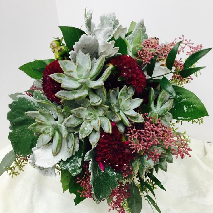 Succulents & Dahlias