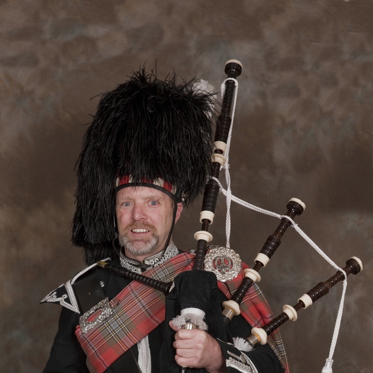Scottish Wedding Piper