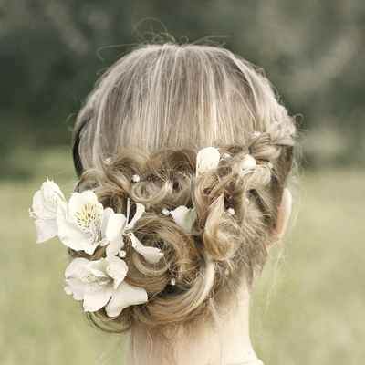 Rustic long wedding hairstyles