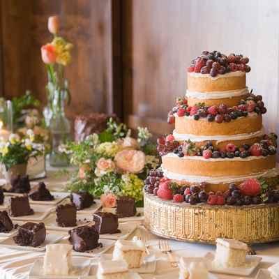 Fruit wedding cakes
