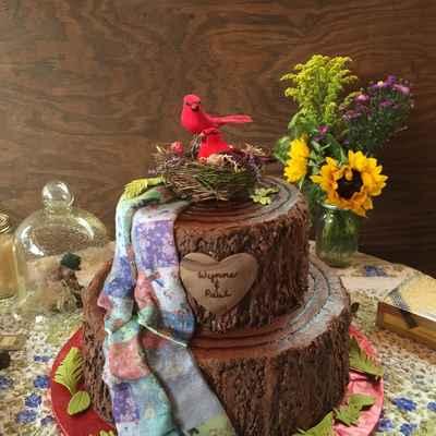 Rustic brown wedding cakes