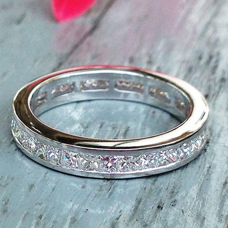 1.00 carat Princess Cut Eternity Wedding Band