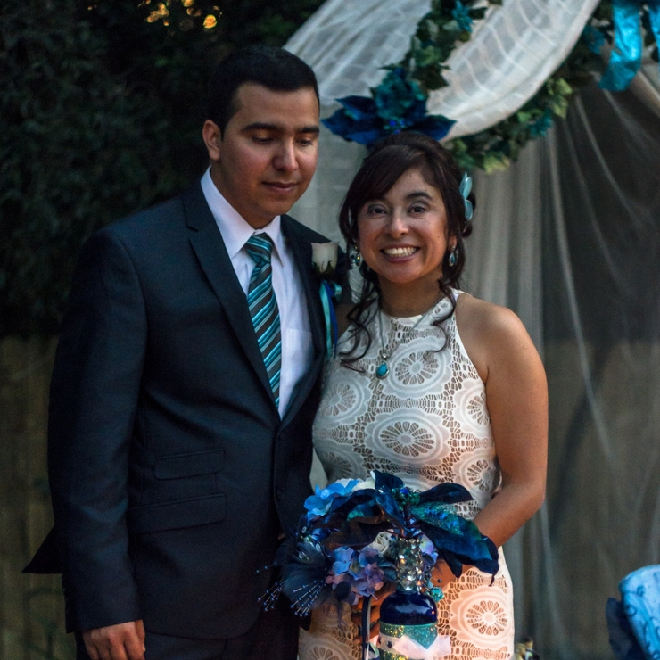 Lida &Felipe's Intimate Backyard Wedding December 19, 2014