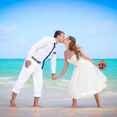 Beach white short wedding dresses