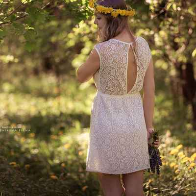 Rustic spring lace wedding dresses