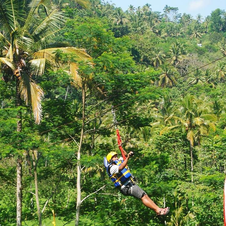 Bali Rafting and Flying Fox