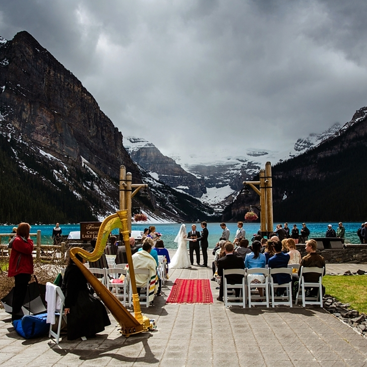 Lily & Matt Lake Louise Wedding