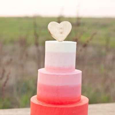 French red wedding cakes