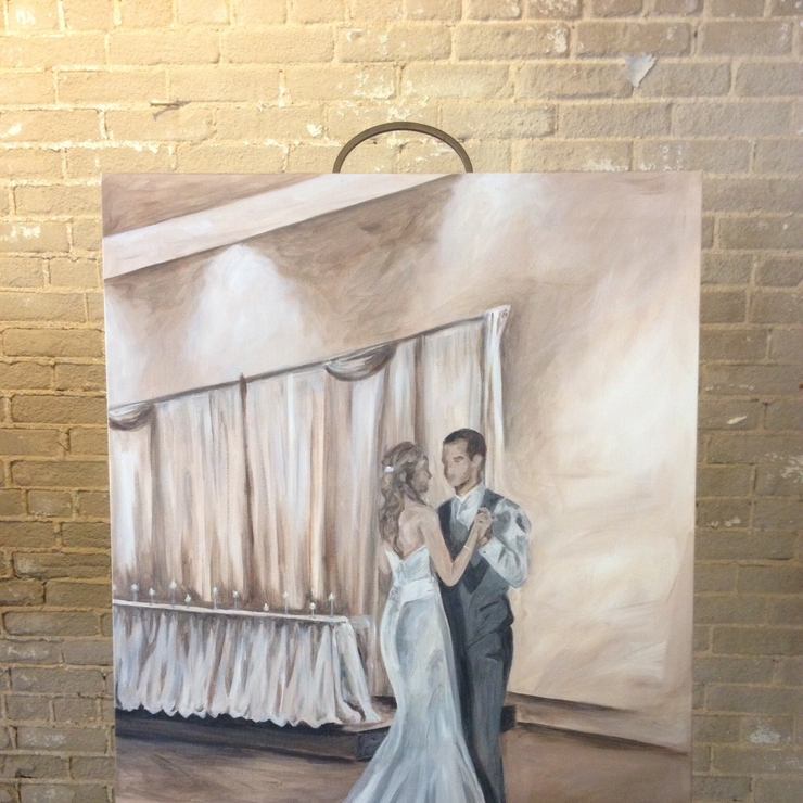 Live wedding paintings