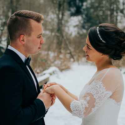 Winter outdoor wedding photo session ideas