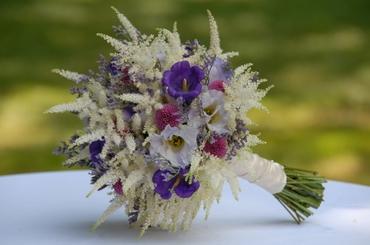 Summer purple eustoma wedding bouquet