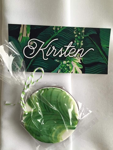 Green wedding favours