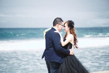 Beach blue open wedding dresses