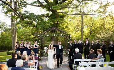 Black wedding ceremony decor