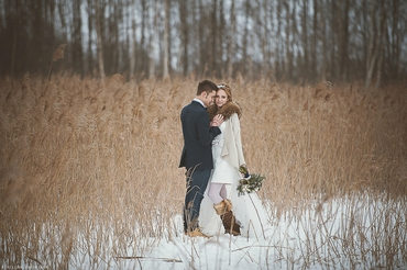 French winter real weddings