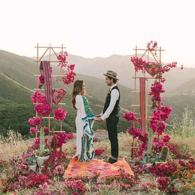 Rustic pink real weddings