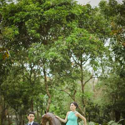 Outdoor blue real weddings