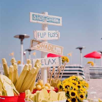 Marine yellow photo session decor