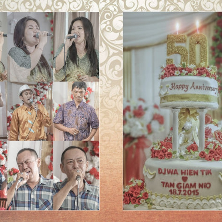 Photobook 50th wedding anniversary