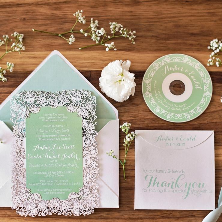 Amber & Ewald Wedding Invite