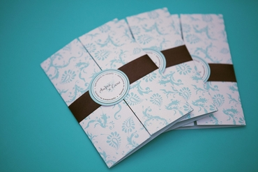 Breakfast at tiffany's blue wedding invitations