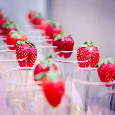 Fruit red wedding reception decor