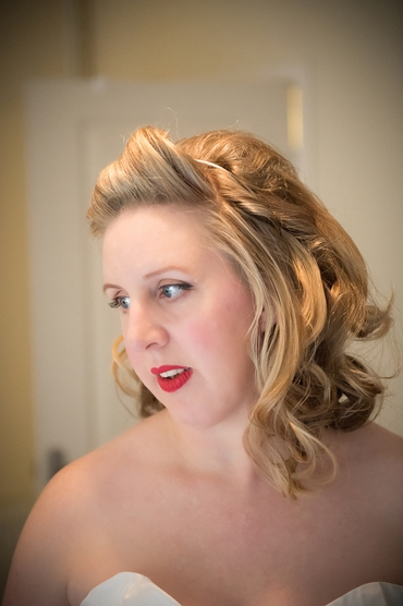 Vintage bridal hair and make-up