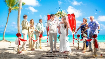 Beach red real weddings