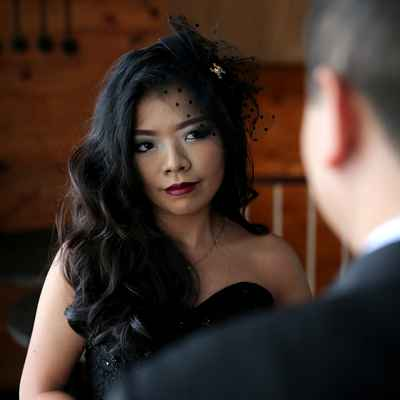 Black bridal hair and make-up