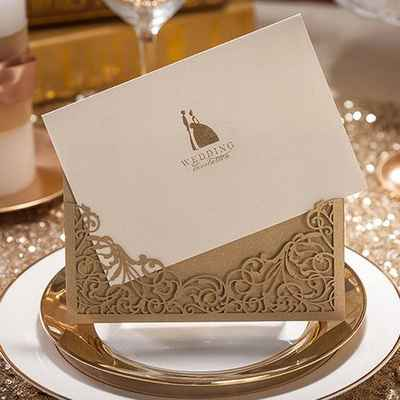White wedding invitations