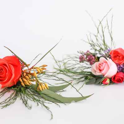 Red wedding buttonhole