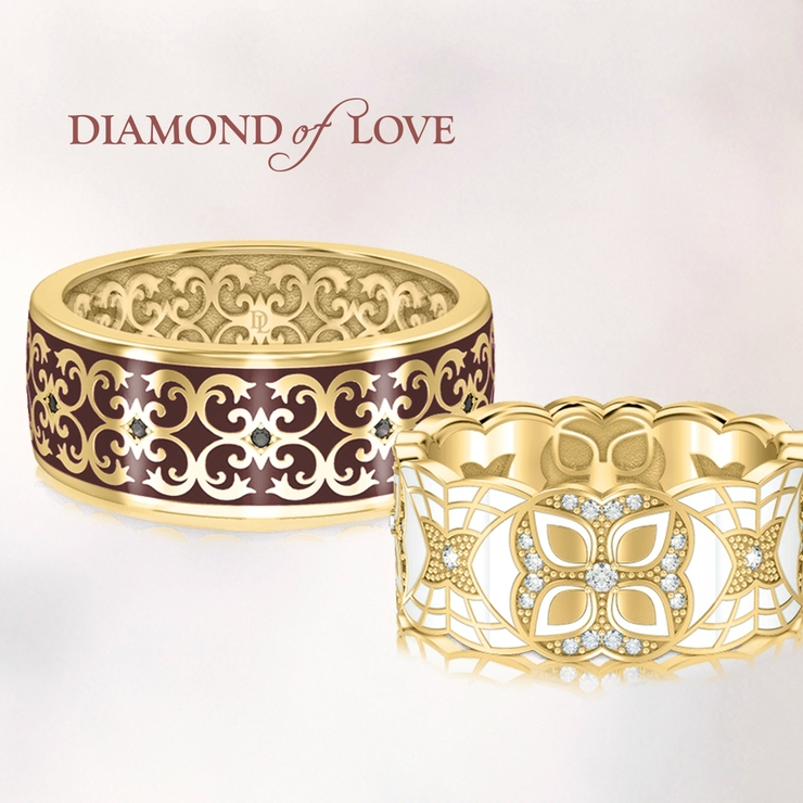 "Collection of wedding rings ""Kaleidoscope of love "" from the company DIAMOND of LOVE"