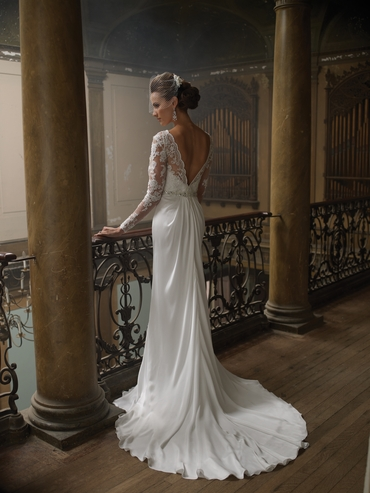 French long train wedding dresses