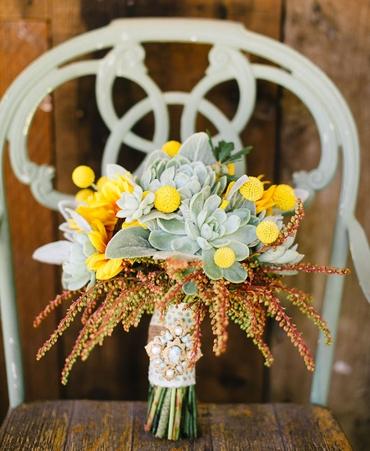 Autumn yellow alternative wedding bouquet