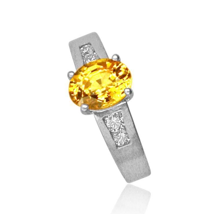 Coloured gemstone rings