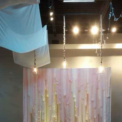 Pink wedding ceremony decor