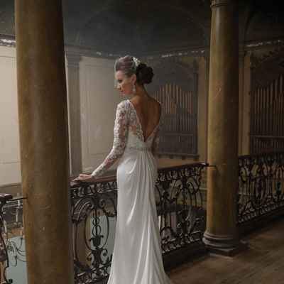 French long train wedding dresses