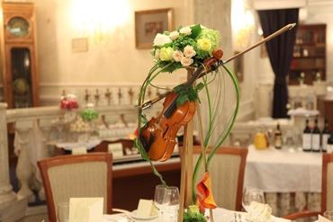 Themed green wedding floral decor