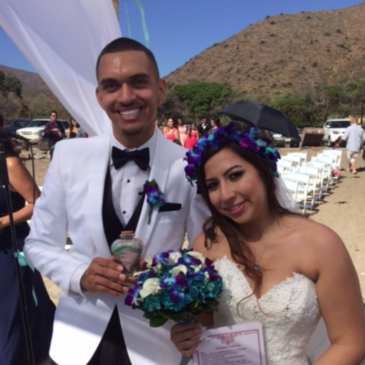 Marissa & Juan Laris- Beach Wedding Ceremony