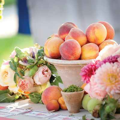 Fruit summer photo session decor