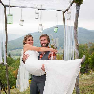 Rustic white groom style