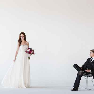Overseas white long wedding dresses